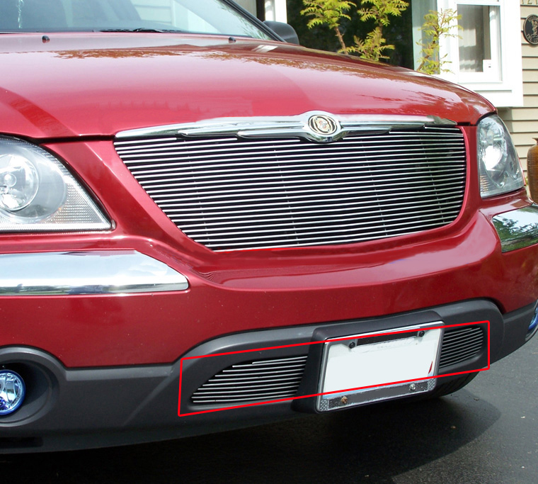 Fit 2004 2005 2006 Chrysler Pacifica Bumper Billet Grille