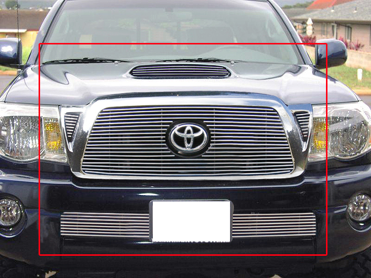 fit 05 10 toyota tacoma combo billet grille hood scoop. Black Bedroom Furniture Sets. Home Design Ideas