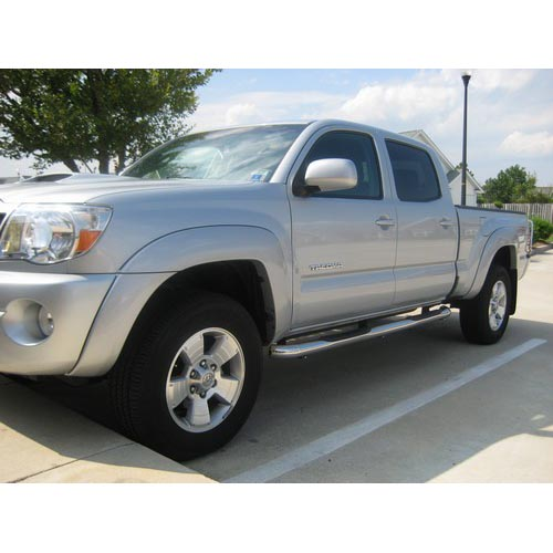 """Toyota Tacoma Crew Cab: Fit:05-14 Toyota Tacoma Double Cab 3"""" Round S/S Side Step"""