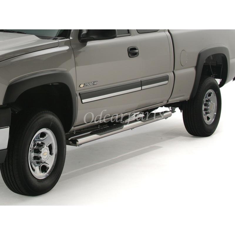 """99-13 Silverado/Sierra Extended Cab 4"""" Oval S/S Side Step"""