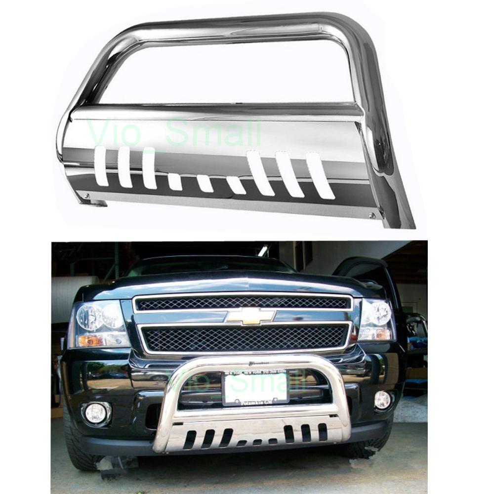 "Chevy Silverado / GMC Sierra 1500 3"" Push Bumper Grill Guard Bull Bar"