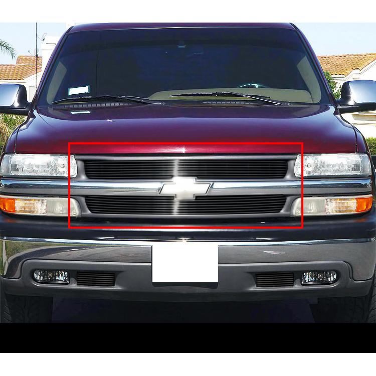 fit 99 02 chevy silverado 1500 00 06 suburban tahoe black billet grille ebay