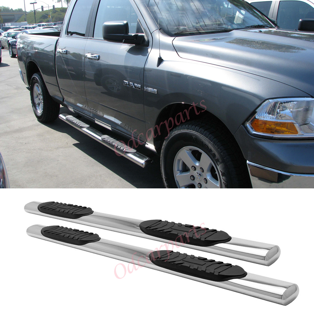 "Dodge Ram Cabs: 09-14 Ram 1500 Quad/EXT Cab 5"" Stainless Steel Side Step"