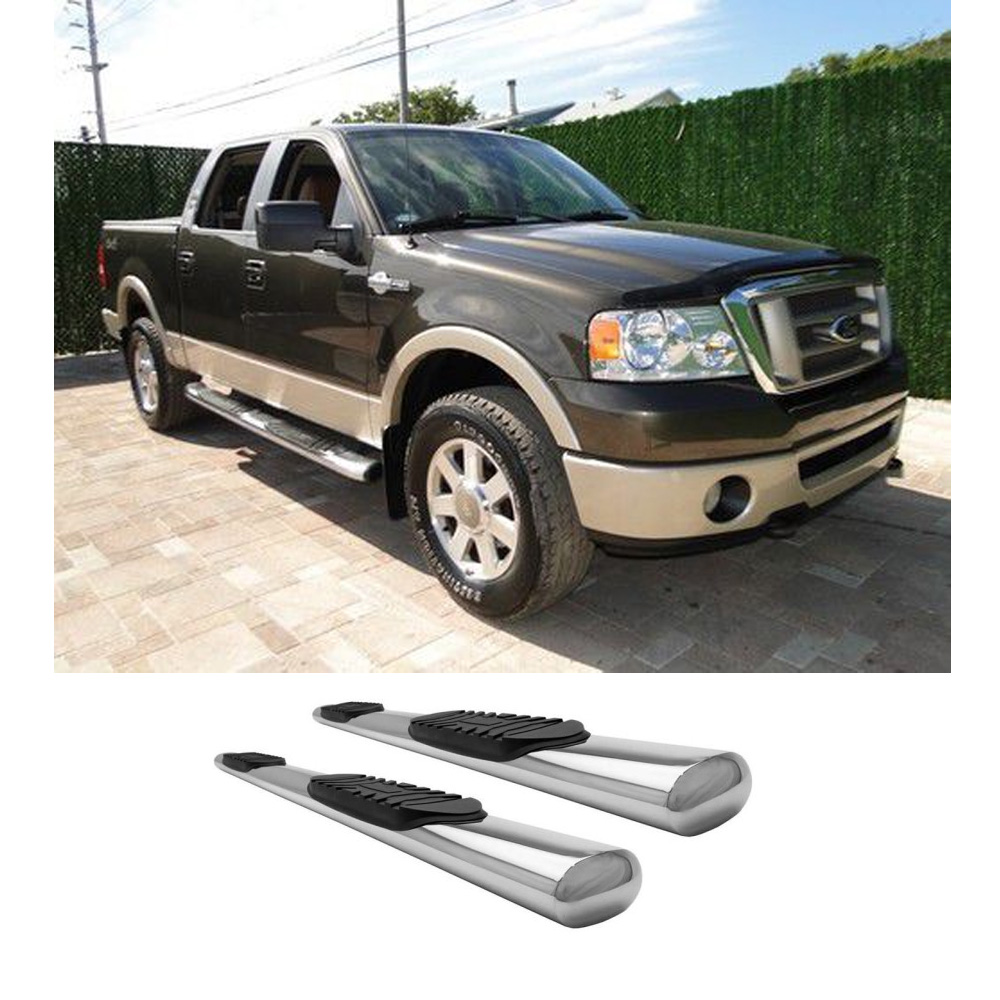 "Fit 04 08 Ford F150 Super Crew Cab 4"" S S Side Step Nerf"