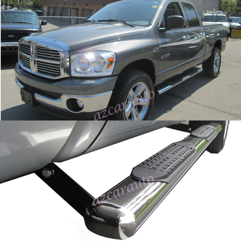 """4 Inch Running Boards Side Step For Ram 1500 2500 3500: 4"""" Oval T304 S/S Side Step Nerf Bar Running Board Fit:02"""