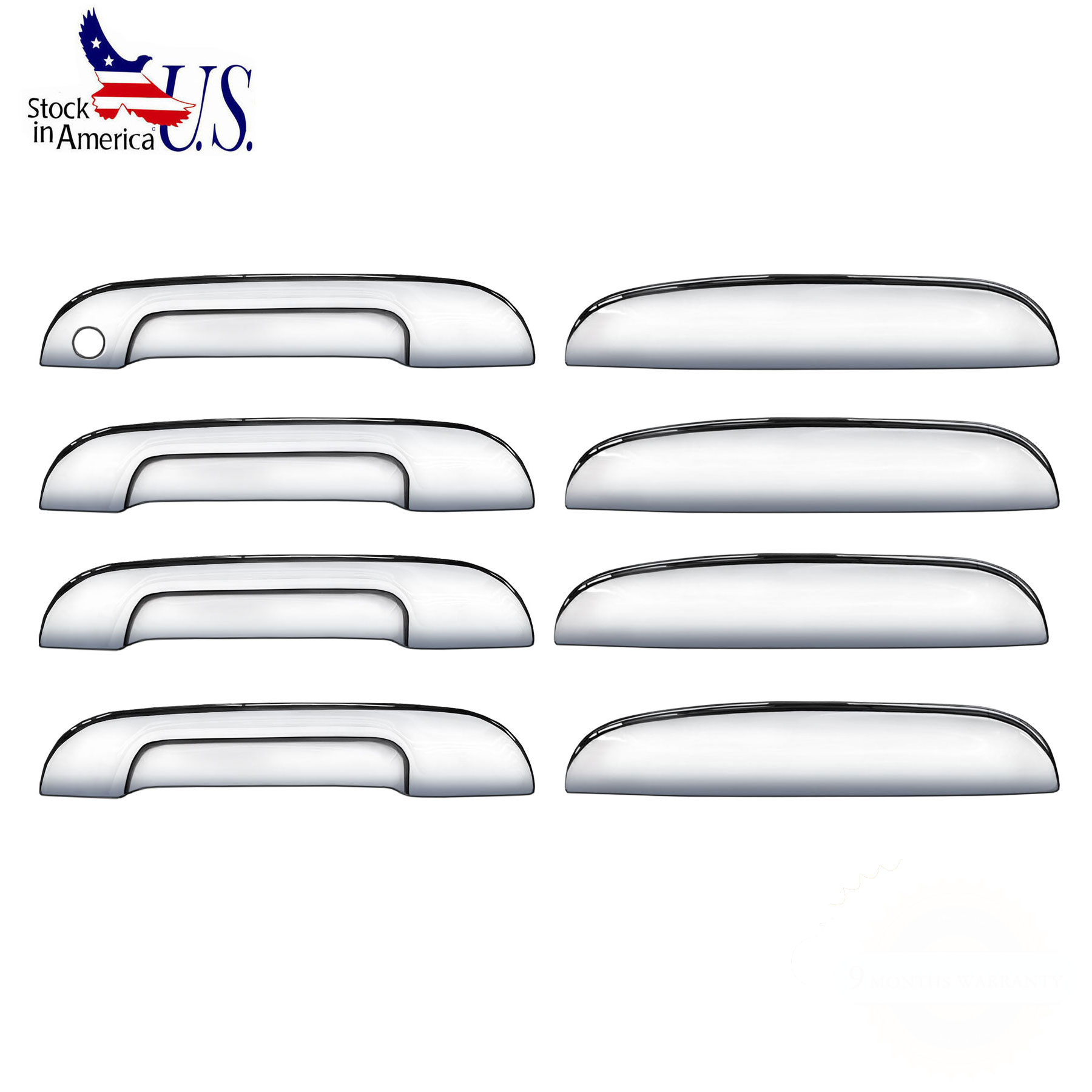 Chrome 4 Door Handle Cover Trim Fit Trailblazer/Envoy