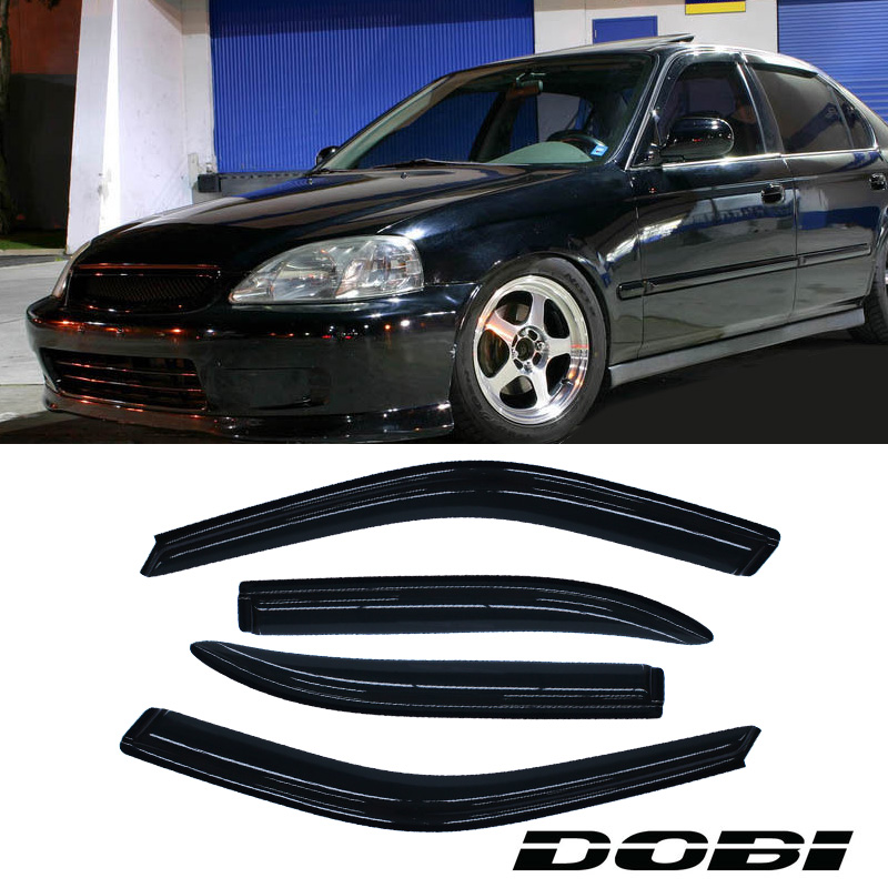 Dobi 4pc sun rain guard vent shade window visors 96 00 for 2000 honda civic rear window visor