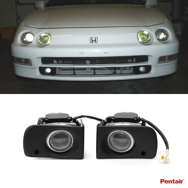 94-01 Acura Integra DC JDM Clear Lens Driving Fog Lights