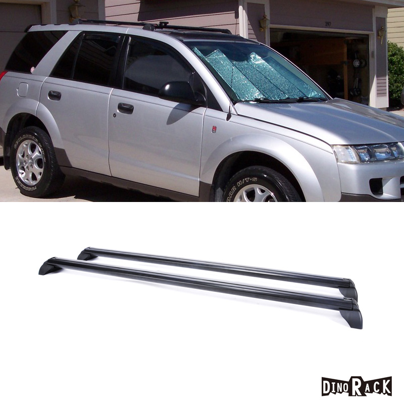 2pc 02 07 Saturn Vue Blk Aluminum Roof Rack Cross Bar