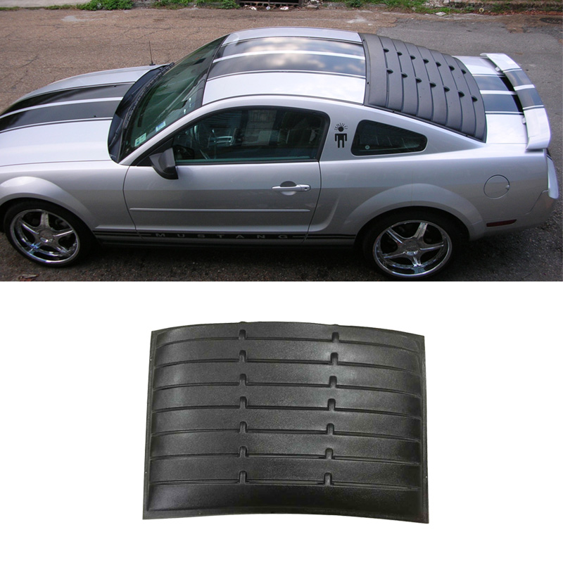 Fit 05 14 ford mustang coupe retro rear back window louver for 05 mustang rear window louvers