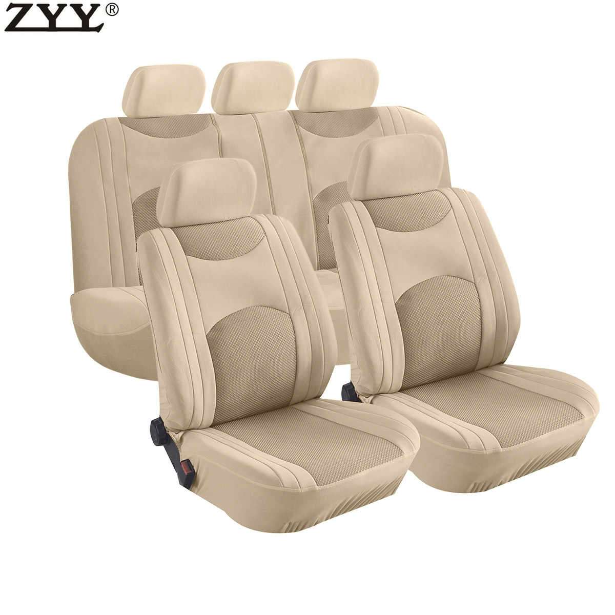 Split Bench Seat Covers ~ Pcs new universal beige airbag split bench headrest front