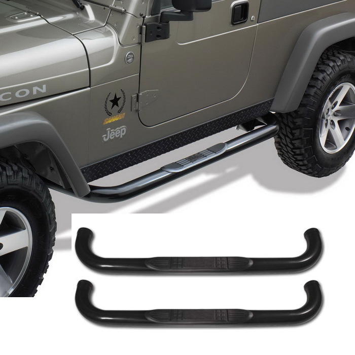 Fit 97 06 Jeep Wrangler Tj 3 Quot Black C S Side Step Nerf Bar