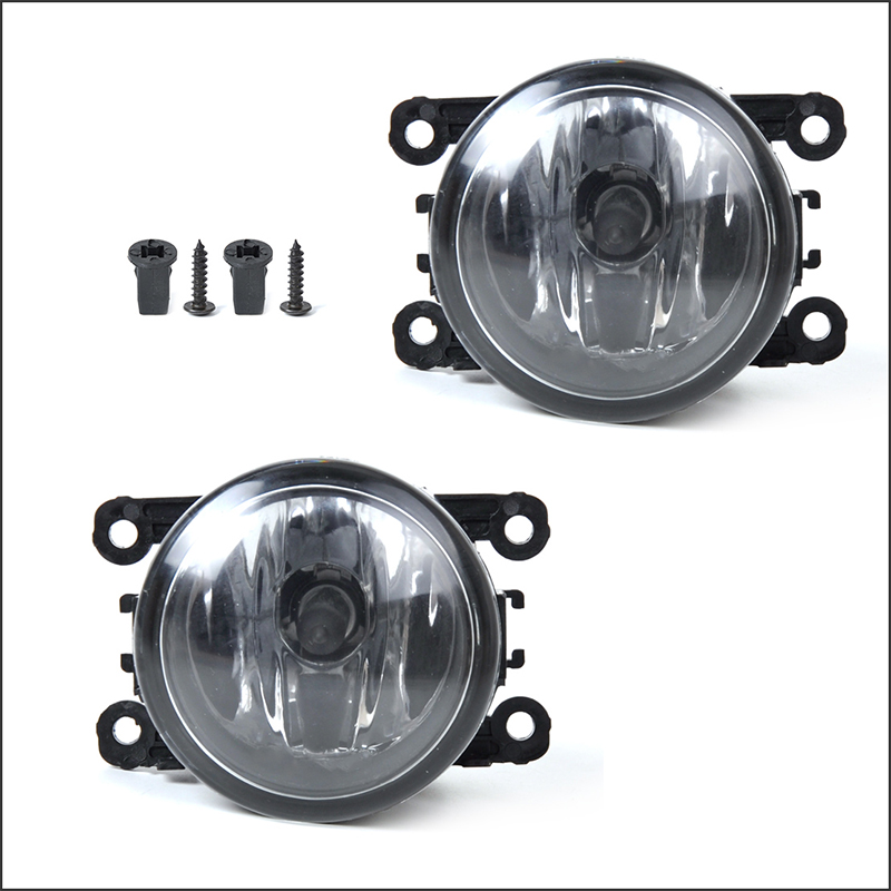 New 2pcs Front Clear Lens Chrome Housing Fog Lights